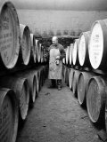 An Employee of the Knockando Whisky Distillery in Scotland  January 1972
