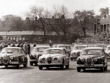 Saloon Car Race at the International &#39;200&#39; Meeting at Aintree  Jaguar S-Type Saloon Car  April 1961