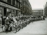 Quickly Club Assembles Outside Andy Mcneil Shop  June 1956