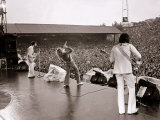 The Who in Concert  Roger Daltry Singing at the Charlton Athletic Football Club Ground  May 1976