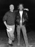 Eric Clapton with Phil Collins Before the Concert at the Royal Albert Hall