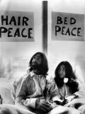 John Lennon in Bed with Yoko Ono at the Hilton Hotel Amsterdam  Peace Protest  1980