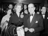 Humphrey Bogart with His Wife Lauren Bacall at a Film Premiere  Film Premier  April 1951