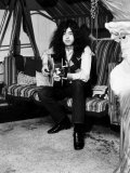 Jimmy Page Lead Guitarist with Led Zeppelin Then Aged 24 at His Home in Pangbourne Berkshire