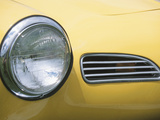 Headlight in Yellow Car