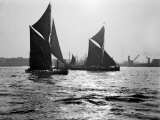 Two Traditional Thames Barges in the Lower Thames Estuary  1935