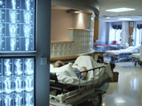 X-Ray Images on Computer Screen in Hospital