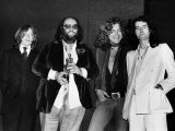 Led Zeppelin with Their Ivor Novello Award John Paul Jones Peter Grant Robert Plant Jimmy Page