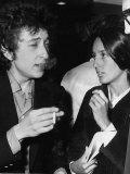 Bob Dylan American Folk Singer Arriving at Heathrow Airport with His Girlfriend Joan Baes