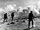 WW2 British Soldiers on Libyan Frontier 1941 Advancing Through a Smoke Screen