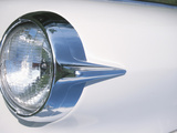 Headlight in White Car