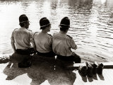 Policemen Sitting by a River on a Hot Sunny Day  July 1976