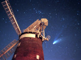 Hale Bopp Comet in Sky Over Thaxted Essex