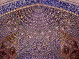 Interior Decorative Mosaic Tiling in the Chaharbach Mosque in Isfahan  Iran