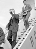 Frank Sinatra Arriving at Heathrow Airport with Dean Martin  August 1961