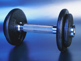 Black Plastic Dumbbell for a Workout