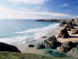 Bedruthan Steps Cornwall England