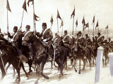 Turkish Cavalry in Constantinople during Balkans War  October 1912