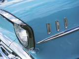 Headlight in Blue Car