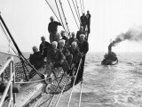 Cadets Aboard the Sorlandet Sailing in the English Channel  June 1952