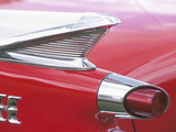 Tail Lights and Fin of Antique Car