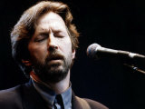 Eric Clapton Rock Guitarist on Stage