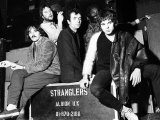 Rock Group the Stranglers  L-R Dave Greenfield  Jet Black  Hugh Cornwell  Jean Jacques Burnel  1977