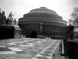 Exterior View of the Royal Albert Hall in London  1951