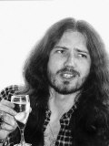 David Coverdale Rock Star Deep Purple Group Sips Champagne at the Holiday Inn Hotel