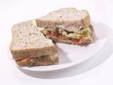 Vegetable Sandwich on Whole Wheat Bread