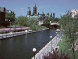 Beautiful Rideau Canal in Ottawa  Ontario  Canada