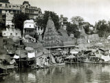 Temples on the River Ganges at Banares (Now Known as Varanasi)  India  August 1911
