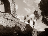 High Adventure: Children Climbing Amongst the Ruins of a Castle  1950