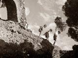 High Adventure: Children Climbing Amongst the Ruins of a Castle  1950