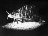 British Bi-Plane Bomber Prepares for a Night Raid During World War One  1918