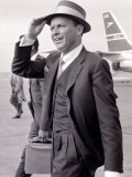 Frank Sinatra Seen Here Arriving at Heathrow Airport in the Summer of 1961