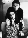 Richard Burton with Elizabeth Taylor  August 1984