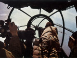 German Machine-Gunner in the Cockpit of a Bomber  Probably a Heinkel He-111