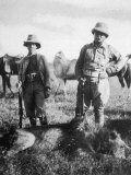 Theodore Roosevelt 26th American President with Hunting Colleague Mr Tarlton and a Dead Lion