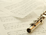 Flute on Top of Sheet Music