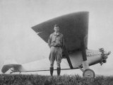 Charles Augustus Lindbergh American Aviator with His Ryan Monoplane the Spirit of St Louis