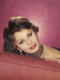 Sophia Loren Italian Film Actress in a Glamorous Pose