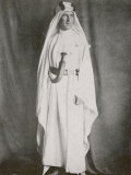 T E Lawrence (Lawrence of Arabia) Full-Length Photograph in Arab Dress