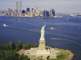The Statue of Liberty and the New York Skyline