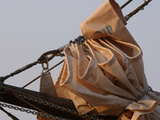 Bundled Sail and Ship&#39;s Rigging