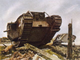 WWI  at Cambrai British Tanks Smash Through the Hindenburg Line