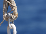 Close-up of Sailboat Rigging with Rope and Chain Links