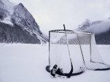 Equipement de patin à glace, lac Louise, Alberta Papier Photo