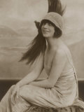 Asta Nielsen Danish Actress of Stage and Screen Wearing a Cloche Hat with an Enormous Feather