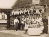 Fine Display of Meat Displayed Outside a Butcher&#39;s Shop
